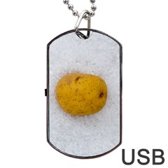 Hintergrund Salzkartoffel Dog Tag Usb Flash (two Sides)