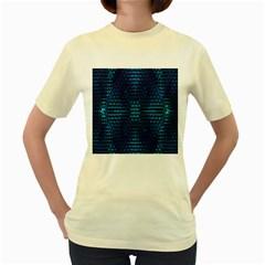 Vibrant Pattern Colorful Seamless Pattern Women s Yellow T Shirt