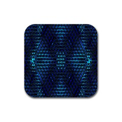 Vibrant Pattern Colorful Seamless Pattern Rubber Coaster (square)