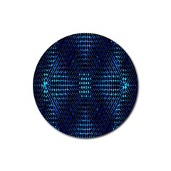 Vibrant Pattern Colorful Seamless Pattern Rubber Coaster (round)