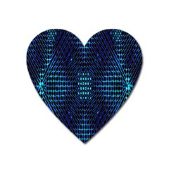 Vibrant Pattern Colorful Seamless Pattern Heart Magnet