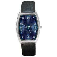 Vibrant Pattern Colorful Seamless Pattern Barrel Style Metal Watch