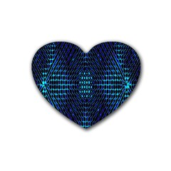 Vibrant Pattern Colorful Seamless Pattern Rubber Coaster (heart)