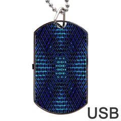 Vibrant Pattern Colorful Seamless Pattern Dog Tag USB Flash (One Side)