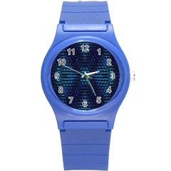 Vibrant Pattern Colorful Seamless Pattern Round Plastic Sport Watch (S)