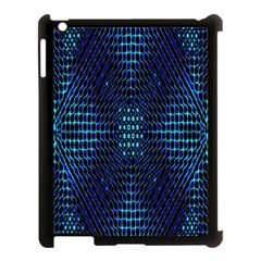 Vibrant Pattern Colorful Seamless Pattern Apple iPad 3/4 Case (Black)