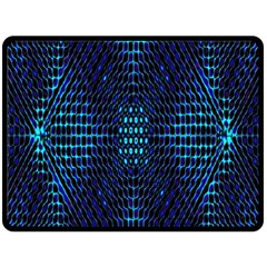 Vibrant Pattern Colorful Seamless Pattern Double Sided Fleece Blanket (Large)