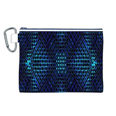 Vibrant Pattern Colorful Seamless Pattern Canvas Cosmetic Bag (l)