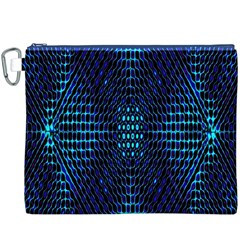 Vibrant Pattern Colorful Seamless Pattern Canvas Cosmetic Bag (XXXL)