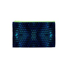 Vibrant Pattern Colorful Seamless Pattern Cosmetic Bag (XS)