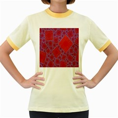 Voronoi Diagram Women s Fitted Ringer T Shirts