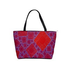 Voronoi Diagram Shoulder Handbags