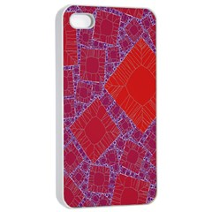 Voronoi Diagram Apple Iphone 4/4s Seamless Case (white)