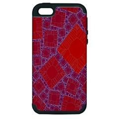 Voronoi Diagram Apple iPhone 5 Hardshell Case (PC+Silicone)