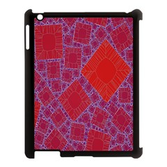 Voronoi Diagram Apple iPad 3/4 Case (Black)
