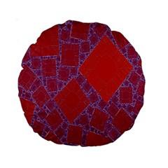 Voronoi Diagram Standard 15  Premium Round Cushions