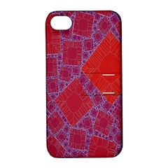 Voronoi Diagram Apple iPhone 4/4S Hardshell Case with Stand
