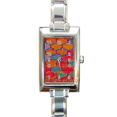 Abstract Art Pattern Rectangle Italian Charm Watch