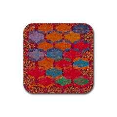 Abstract Art Pattern Rubber Square Coaster (4 pack)