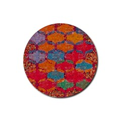 Abstract Art Pattern Rubber Coaster (Round)
