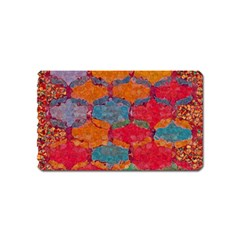 Abstract Art Pattern Magnet (Name Card)