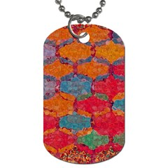 Abstract Art Pattern Dog Tag (One Side)