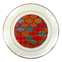 Abstract Art Pattern Porcelain Plates