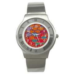 Abstract Art Pattern Stainless Steel Watch