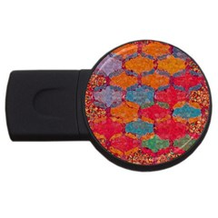 Abstract Art Pattern Usb Flash Drive Round (4 Gb)