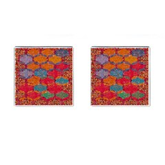 Abstract Art Pattern Cufflinks (Square)