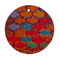 Abstract Art Pattern Round Ornament (two Sides)