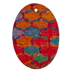 Abstract Art Pattern Oval Ornament (Two Sides)