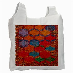 Abstract Art Pattern Recycle Bag (one Side)