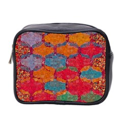 Abstract Art Pattern Mini Toiletries Bag 2 Side