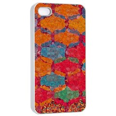 Abstract Art Pattern Apple Iphone 4/4s Seamless Case (white)
