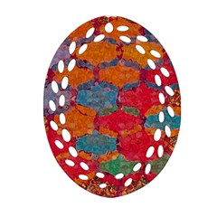 Abstract Art Pattern Oval Filigree Ornament (two Sides)