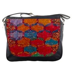Abstract Art Pattern Messenger Bags