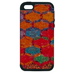 Abstract Art Pattern Apple iPhone 5 Hardshell Case (PC+Silicone)