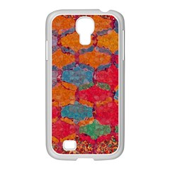 Abstract Art Pattern Samsung GALAXY S4 I9500/ I9505 Case (White)
