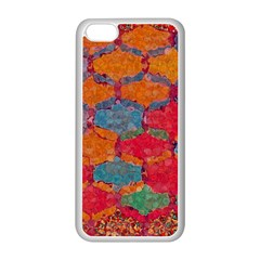 Abstract Art Pattern Apple iPhone 5C Seamless Case (White)