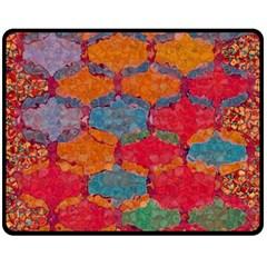 Abstract Art Pattern Double Sided Fleece Blanket (medium)