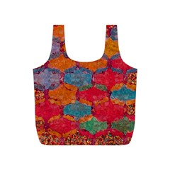 Abstract Art Pattern Full Print Recycle Bags (S)