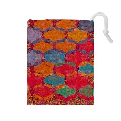 Abstract Art Pattern Drawstring Pouches (Large)