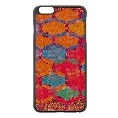 Abstract Art Pattern Apple iPhone 6 Plus/6S Plus Black Enamel Case