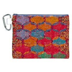 Abstract Art Pattern Canvas Cosmetic Bag (xxl)
