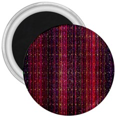 Colorful And Glowing Pixelated Pixel Pattern 3  Magnets