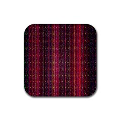 Colorful And Glowing Pixelated Pixel Pattern Rubber Square Coaster (4 Pack)