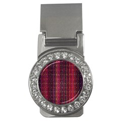 Colorful And Glowing Pixelated Pixel Pattern Money Clips (CZ)