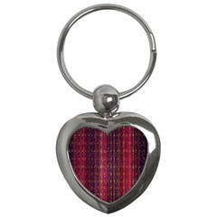 Colorful And Glowing Pixelated Pixel Pattern Key Chains (heart)