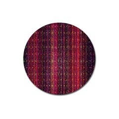 Colorful And Glowing Pixelated Pixel Pattern Magnet 3  (Round)